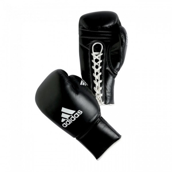 adidas PRO Professional Boxing Glove, all black, adiBC09