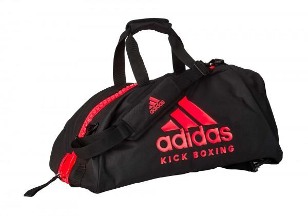 "adidas 2in1 Bag ""Kickboxing"" black/red Nylon M, adiACC052KB"