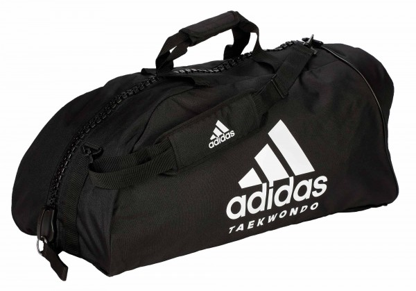 "adidas 2in1 Bag ""Taekwondo"" black/white Nylon, adiACC052"