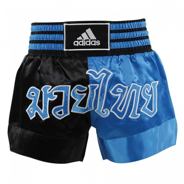 adidas Thai-Boxing Short Black/Metallic blue, ADISTH03