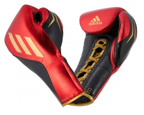 adidas SPEED TILT 750pro Boxhandschuh, schwarz/rot/gold metallic, SPD750FG