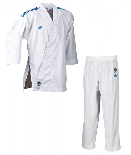 adidas Karateanzug adiLight - blaue Schulterstreifen, K191SKBL