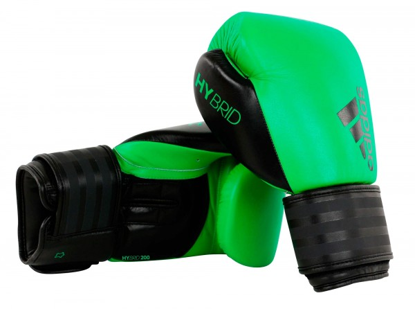 adidas Boxhandschuhe Hybrid 200, solar lime/schwarz, ADIH200