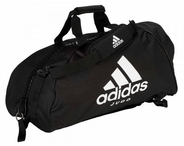 "adidas 2in1 Bag ""Judo"" black/white Nylon, adiACC052"
