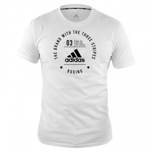 "adidas Community T-Shirt ""BOXING"" white/black, adiCL01B"