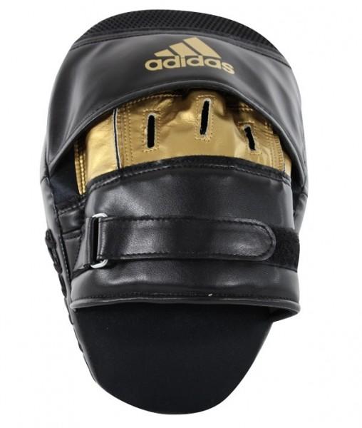 adidas Training Curved Paar-Pratzen kurz schwarz/gold, ADISBAC01