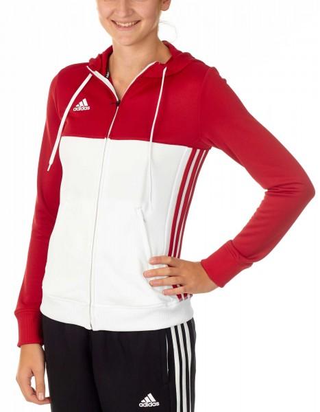 adidas T16 Team Hoodie Damen power rot /weiß AJ5406