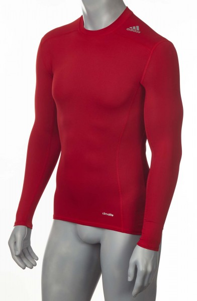 adidas Techfit TF BASE Longsleeve Power Red, AJ5015