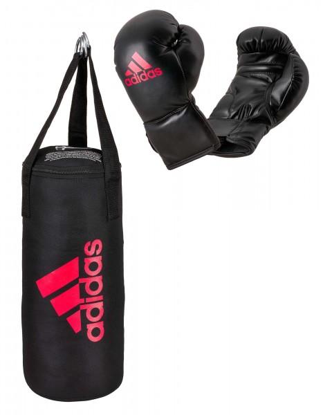 adidas Junior Boxing Kit, schwarz/rot- ADIBACJP