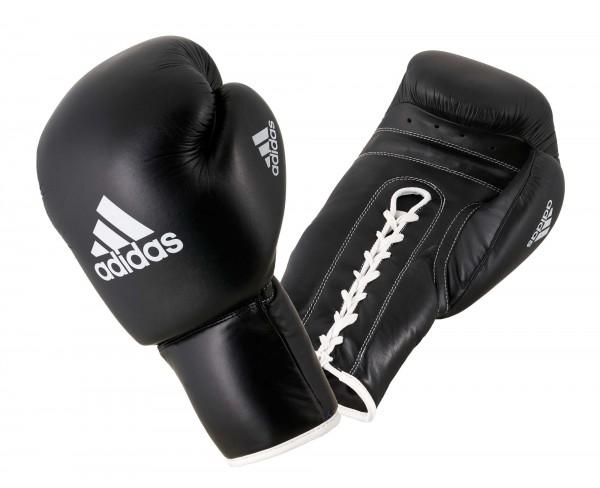 adidas PRO Professional Boxing Glove, all black, adiBC09