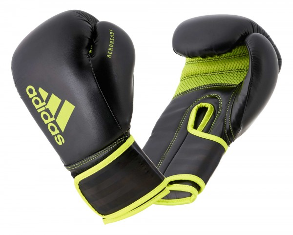 adidas Boxhandschuhe Hybrid 80, black/yellow, ADIH80