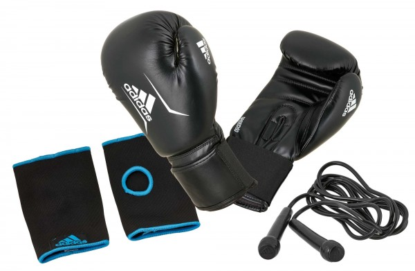 adidas Boxing Set - Handschuhe, Seil, Innenhandschuhe - ADIBPKITSMU