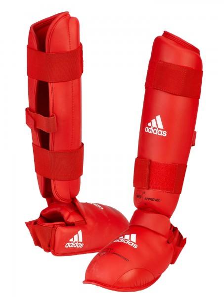 adidas Schien- & Spannschutz WKF approved rot, 661.35