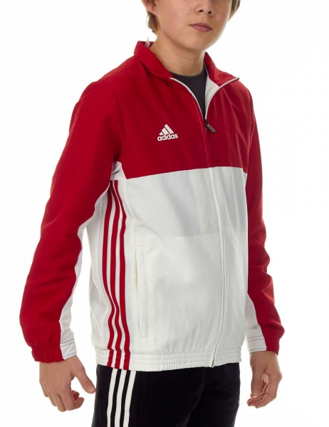 adidas T16 Team Jacket Kids power rot/weiß, AJ5324