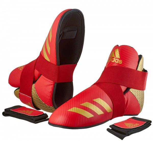 adidas Pro Kickboxing Fußschutz red/gold, adiKBB300HD