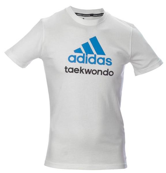 adidas Community line T-Shirt Taekwondo weiß